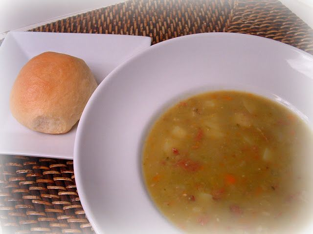 Feast for the Eyes: Chunky Split Pea Soup with Ham, Pressure Cooker ...