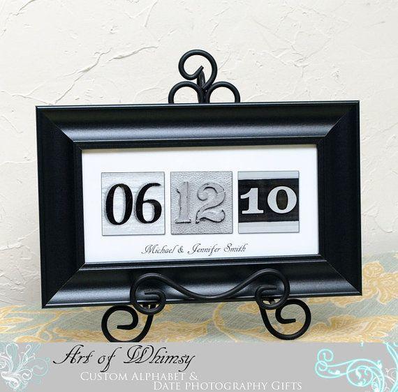 Framed anniversary date
