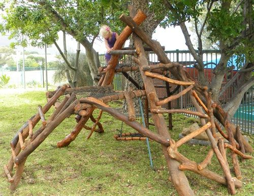 climbing structure natural playground pinterest