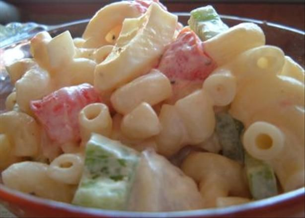 Macaroni Salad With Tomatoes Recipe — Dishmaps