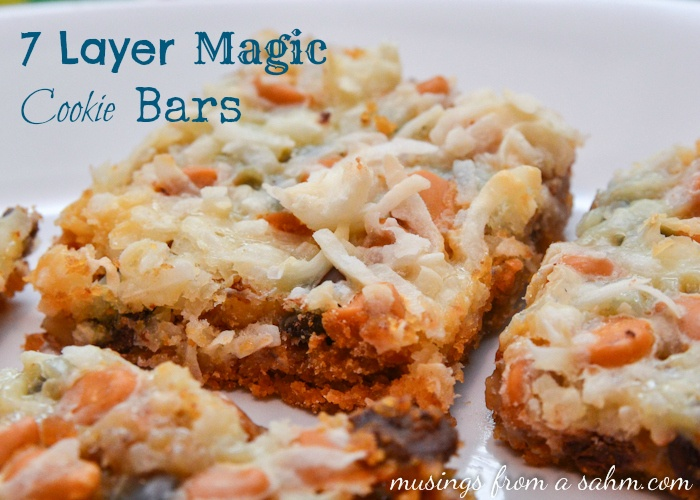 7 layer magic cookie bars for Easy quick christmas baking recipes