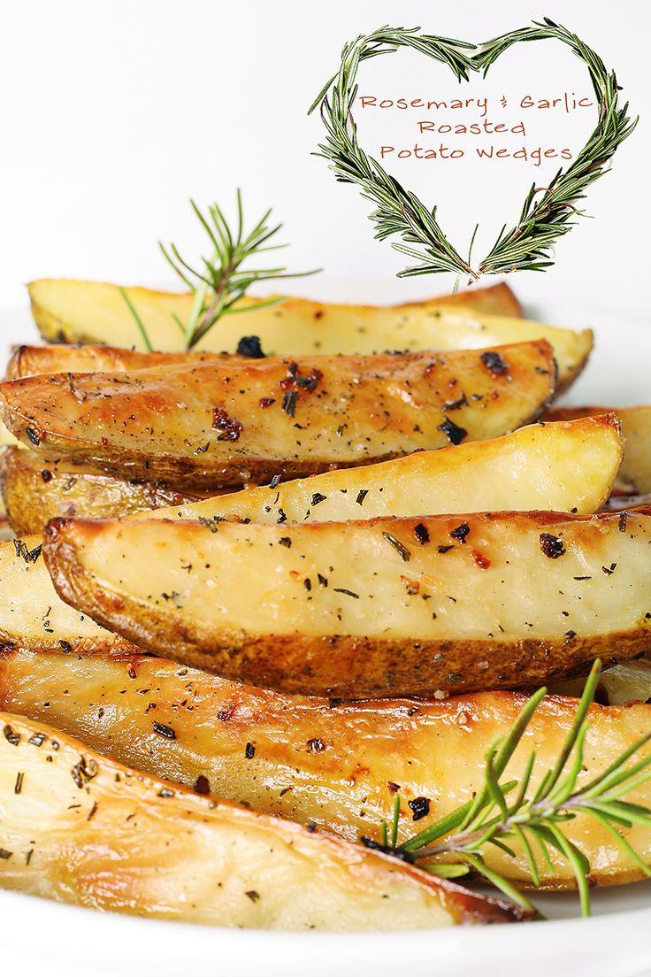 Rosemary Garlic Roasted Potato Wedges   Recipe