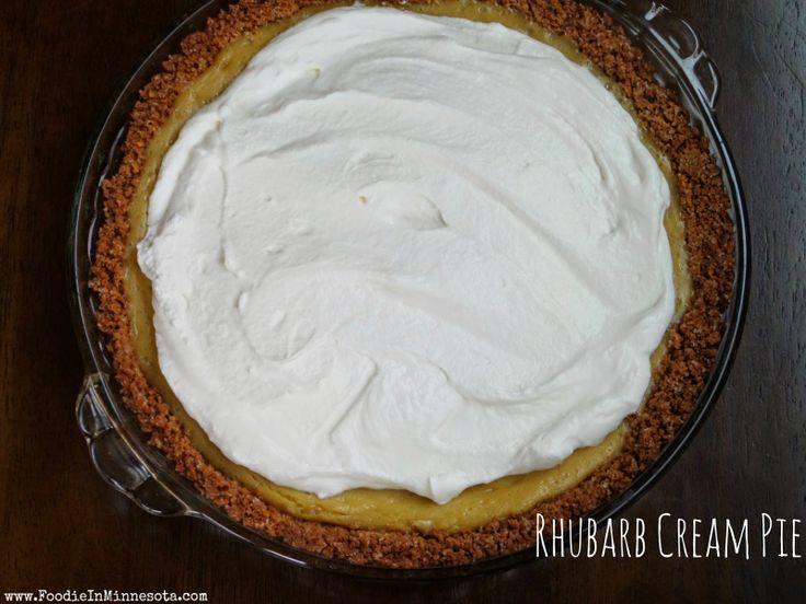 Rhubarb Cream Pie | Sweetness | Pinterest
