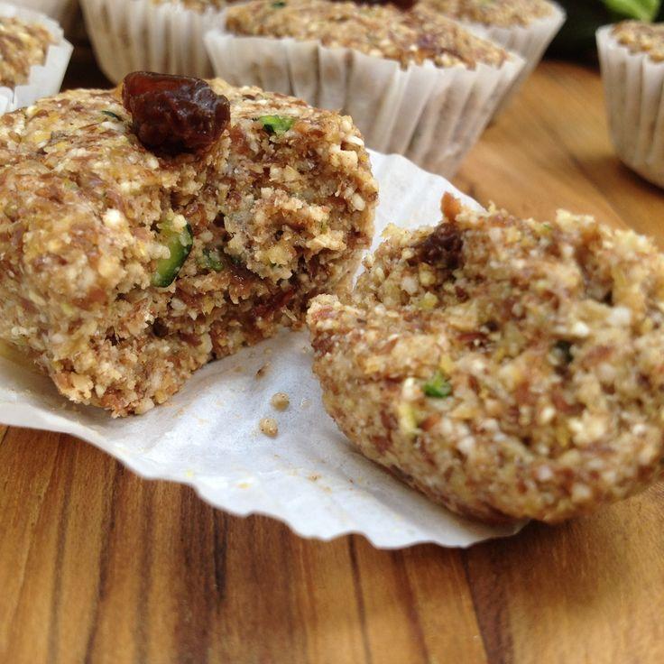 Zucchini Muffins (raw and vegan) | Recipes | Pinterest