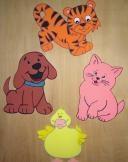 Animales en goma eva - foamy