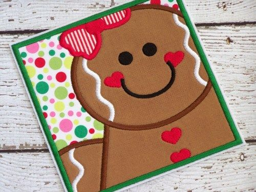 Gingerbread #Girl #Iron #On #Applique #Patch #Christmas | @ ...