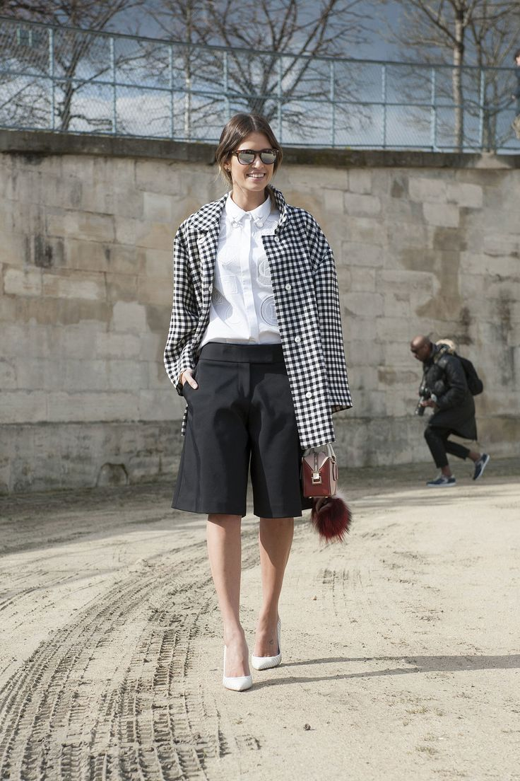 Helena Bordon did black and white with a borrowed-from-the-boys twist.  Paris Fashion Week