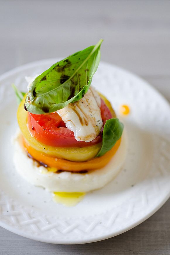 Stacked Tomato, Summer Vegetable and Grilled Bread Salad from Cookie ...