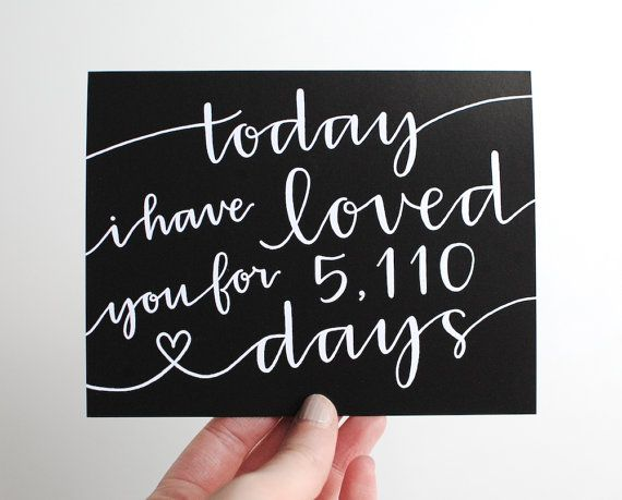 Romantic Greeting Card // Today I Have Loved You For So Many Days, Pe ...: pinterest.com/pin/69172544250860378