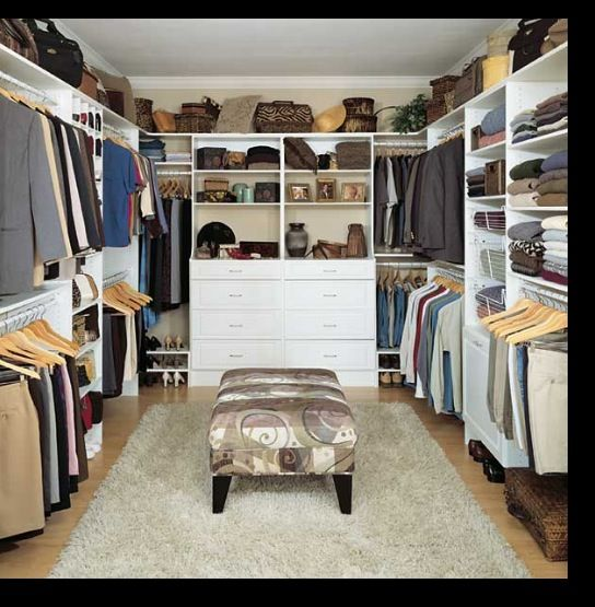 Closet Idea Bench In The Middle Closets Pinterest