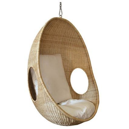 hanging pod chair cacoon pinterest