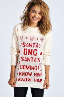 Samia Santa Elf Christmas Jumper