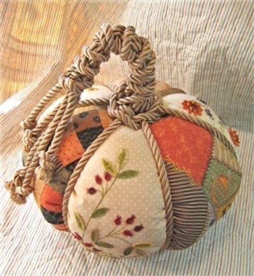 Текстильные тыквы своими руками