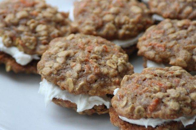 Healthy Carrot Cake Sandwich Cookies. I made these for dessert tonight ...