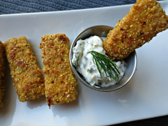 Faux fish sticks and tartar sauce popote pinterest for Fish stick sauce