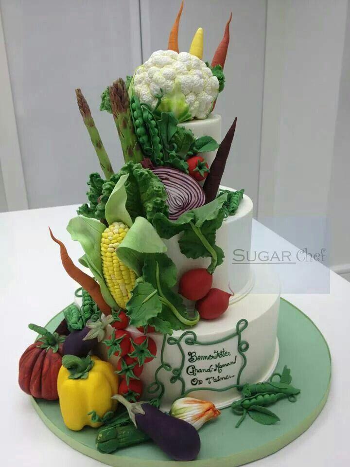 Vegetable Birthday Cake Images :
