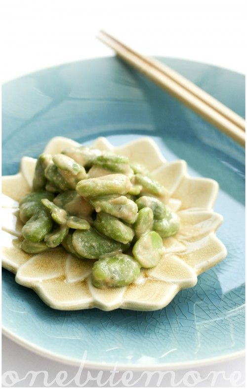 White miso broad beans | T•SPOON | Pinterest