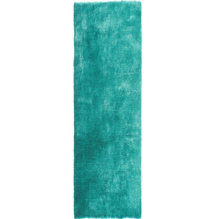 'Posh' Hand-tufted Teal Plush Shag Rug (2'3 X 8' Runner