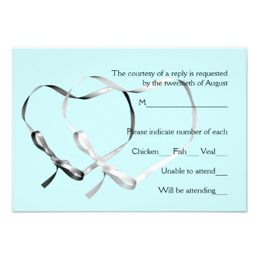 Blue tie the knot wedding rsvp invite