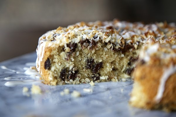 Coconut Cake with Chocolate Chunks (from my cousin Brooke's blog :)