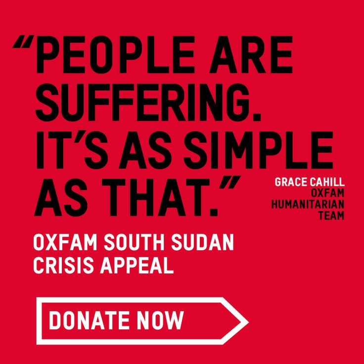 Today we are launching an urgent appeal for funds to help the people of South Sudan. More than a million people have been forced from their homes by fierce fighting. They have lost everything – many living in makeshift camps in the most awful conditions.  We urgently need your help to provide food, water and sanitation. Text DONATE to 70066 to donate £5, and please share this post to help us raise as much as possible. Thank you.