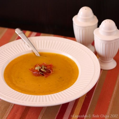 Butternut Squash Soup with Sage and Thyme - the recipe is at the ...