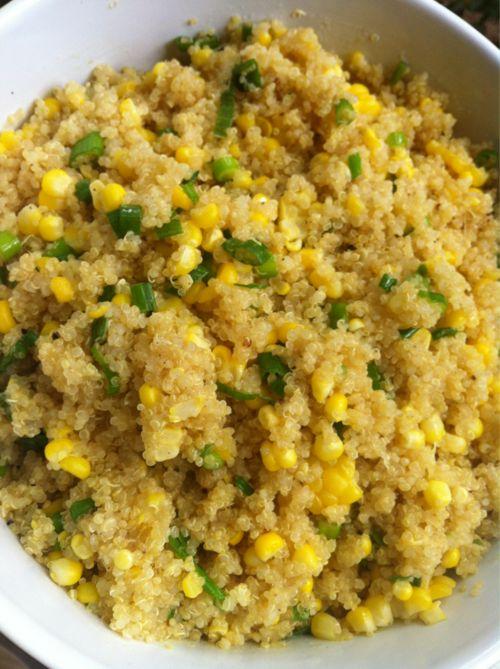 Corn & Scallion Quinoa | Food Coma! | Pinterest