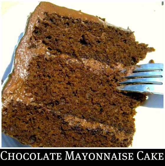 Chocolate Mayonnaise Cake my grandmother made this when I was growing ...