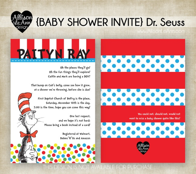baby shower invite dr seuss oh the places