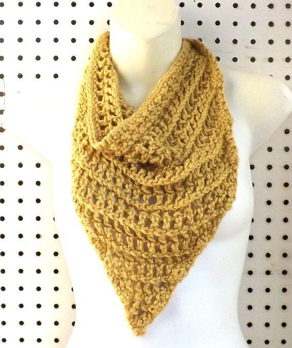 CIJ 10% Off - Womens Crochet Scarf - Crochet Triangle ...
