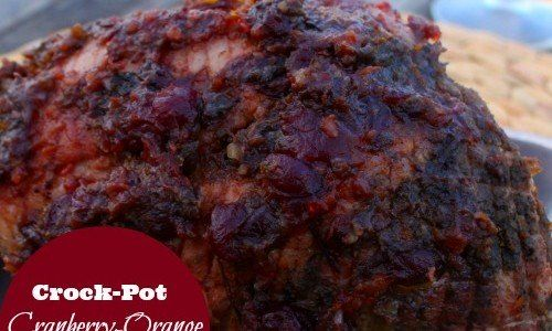Crock-Pot Ladies Crock-Pot Cranberry & Orange Glazed Pork Roast –