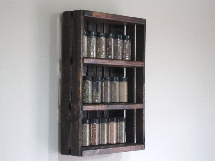 Crate Spice Rack Or Knick Knack Display Wall Hanging