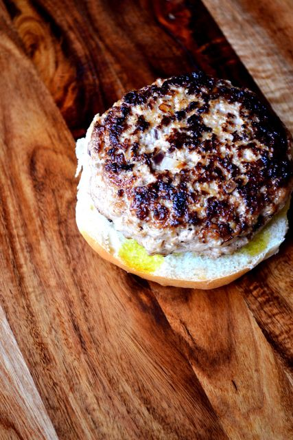 Pork and Apple Burgers - frugalfeeding | frugalfeeding | Pinterest