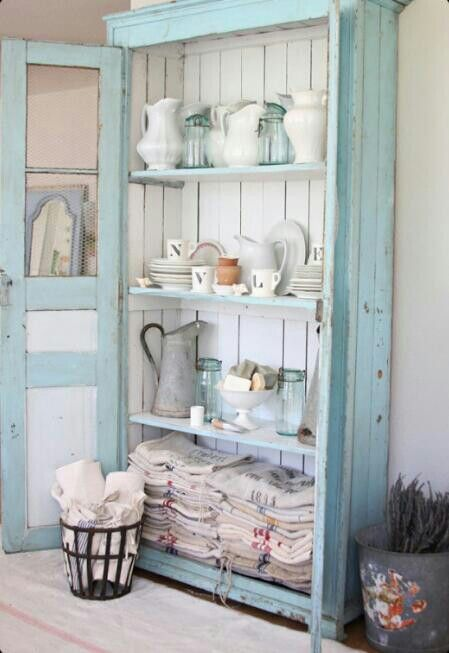 Pastel blue kitchen cabinet  Home Sweet Home  Pinterest