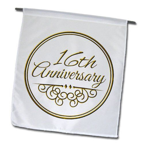 Wedding Gift 16 Years : gift - gold text for celebrating wedding anniversaries - 16 years ...