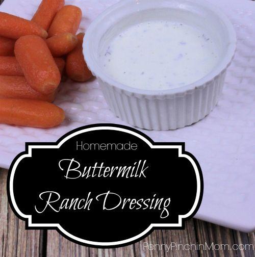 Homemade Buttermilk Ranch Dressing Recipe! #homemade #dressing #ranch ...