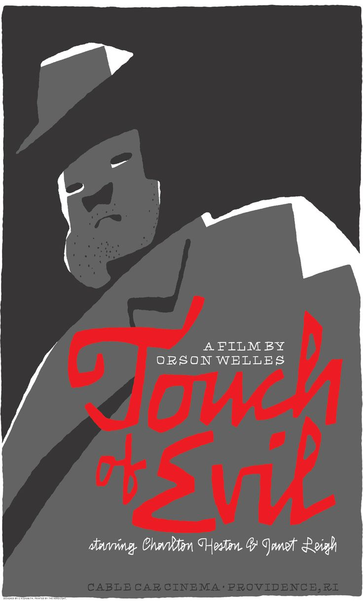 """Touch of Evil"""" movie poster by Cyrus Highsmith"""