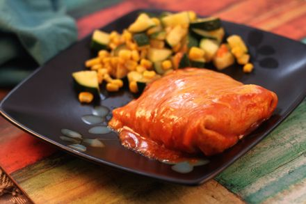 Chicken and Veggie Enchiladas   Abs Are Made In The Kitchen   Pintere ...