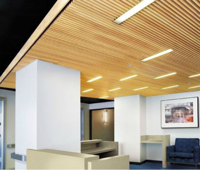Wood Slat Ceiling Rock Center Client Pinterest