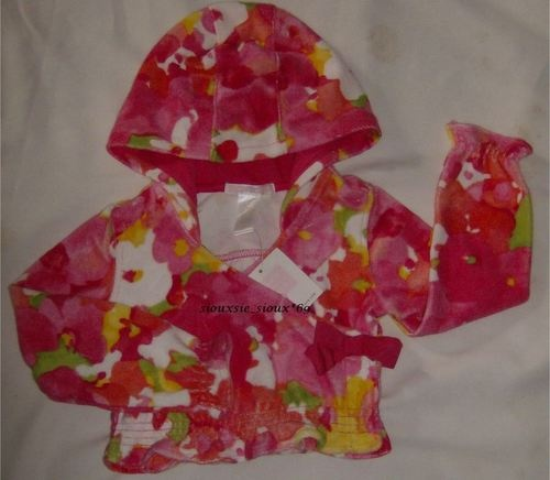 NWT Janie and Jack IMPRESSIONS OF SPRING Cropped Hoodie Top