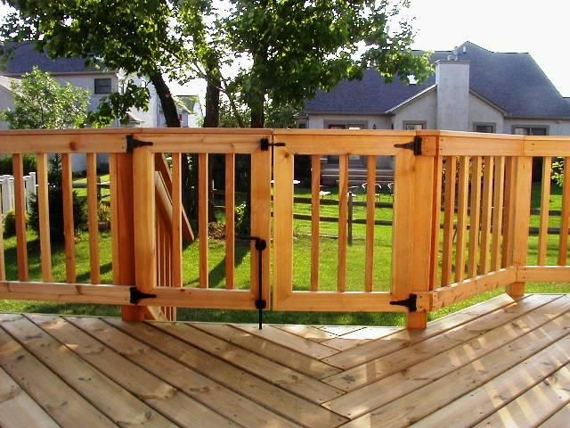 Double gate outdoor decor and ideas pinterest for Porch gate plans