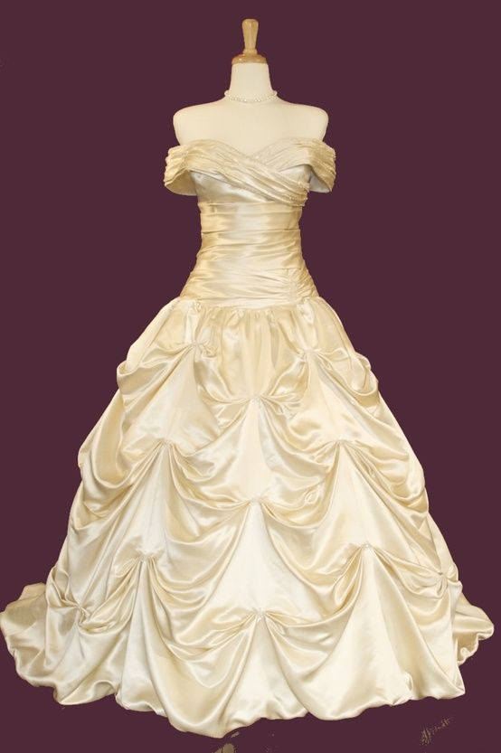 beauty and the beast style wedding dress dream wedding