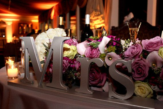 Mr and Mrs Wedding Signs for Sweetheart Table Decor - Wooden Signs Mr ...
