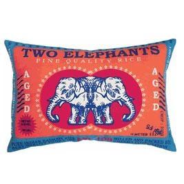 Koko Rice Two Elephants Pillow | Interior design | Pinterest