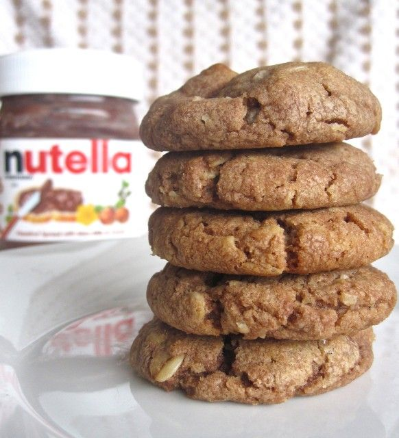 Nutella Peanut Butter Cookies | yummo | Pinterest