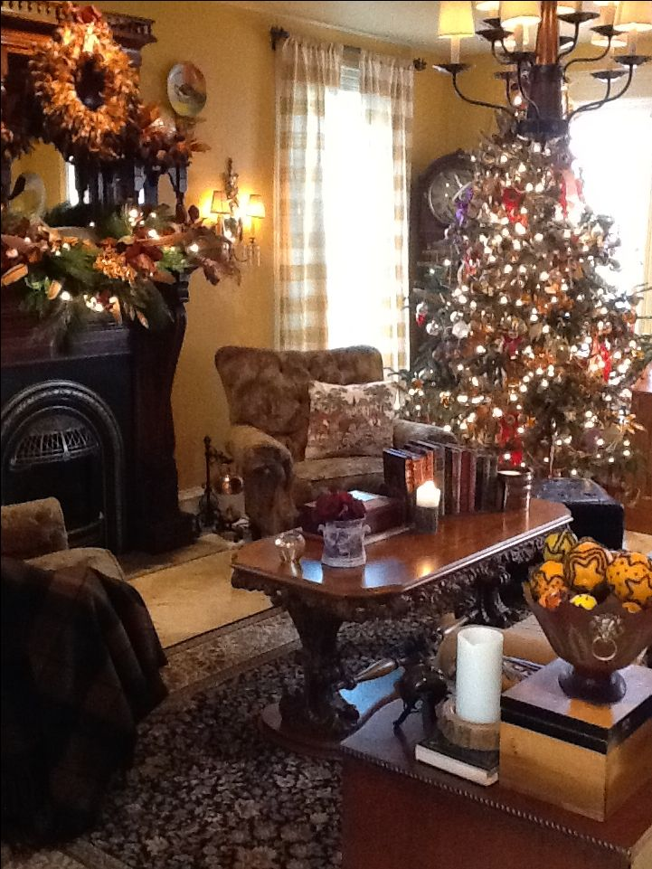 english country christmas home for the holidays pinterest