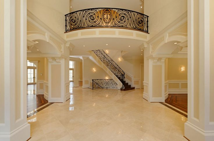 Luxury home entrance foyer luxury interior designs for Mansion foyer designs