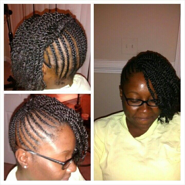 Crochet Marley Hair Updo : ... she has a natural braided updo with crochet twist with Marley Hair
