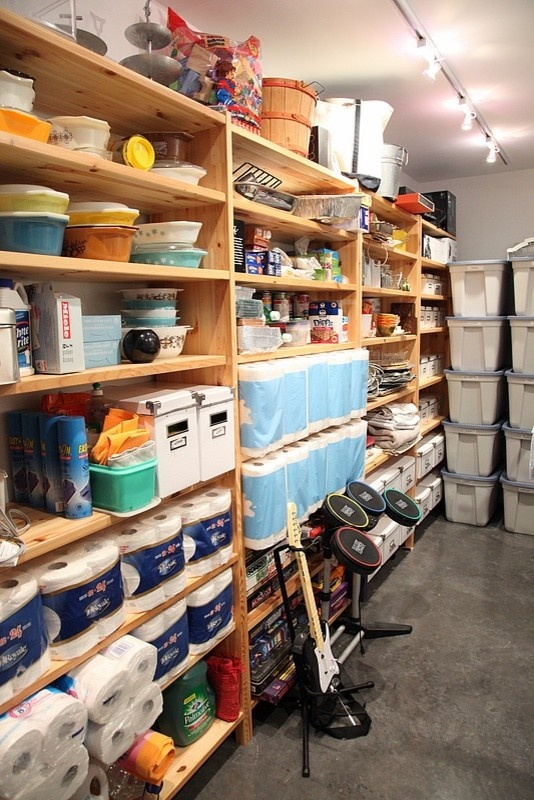 shelving basement pinterest