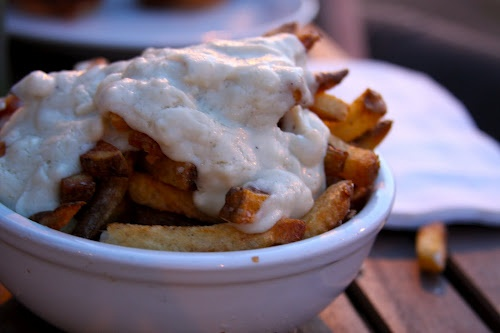 Goat and blue cheese fondue fries | Nom | Pinterest